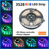 RGB LED Strip 3528 300leds 5M SMD Music Remote Controller 12V 2A Power Adapter 3528 Flexible LED Light Led strip