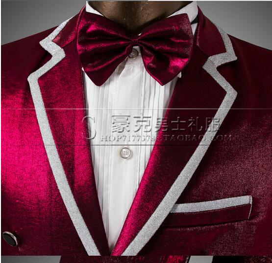 Горячая новинка смокинг костюм обмундирование жениха платье мужчины свадебный костюм VSTINUS певица костюмы ( куртки + брюки )