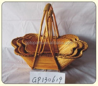 Chinese Wholesale Large Wicker Fruit Basket Factory Supply