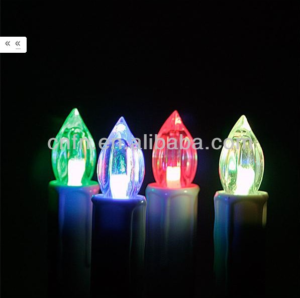 electric christmas tree led candle ,outdoor christmas candle lights