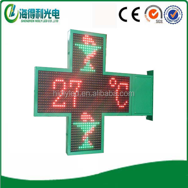 P10 P16 programmable led video graphic time cross display screen