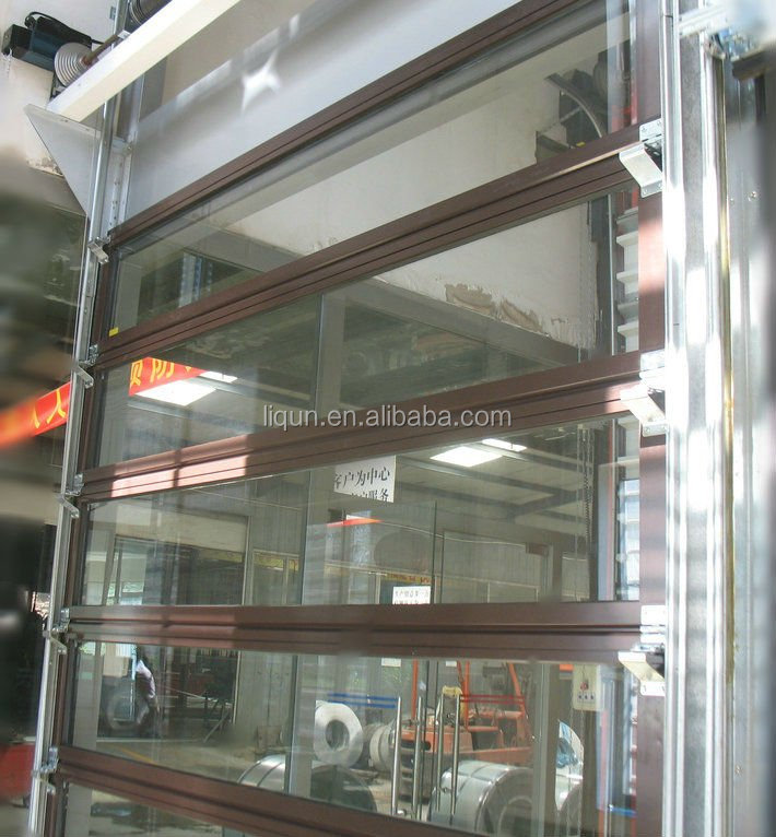 Aluminum Cabinet Electric Roll Up Glass Door - Buy Roll Up Doors ...