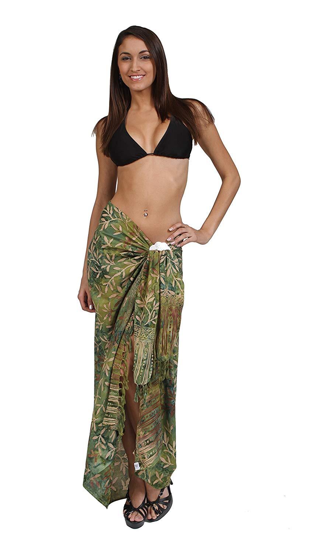 32c91e4da6 Get Quotations · 1 World Sarongs Womens Pareau Hawaiian Floral Tropical  Cover-up Sarong