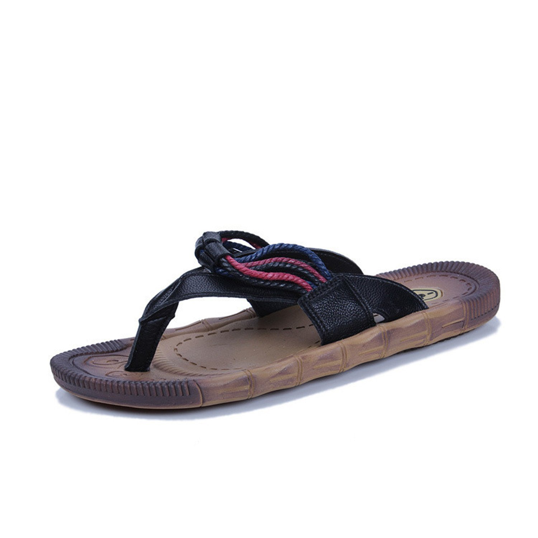 e0bdac2d9cc2 Get Quotations · Daniel Leather Summer Men Slippers Beach Sandals Comfort  Men Casual Shoes Fashion Men Flip Flops