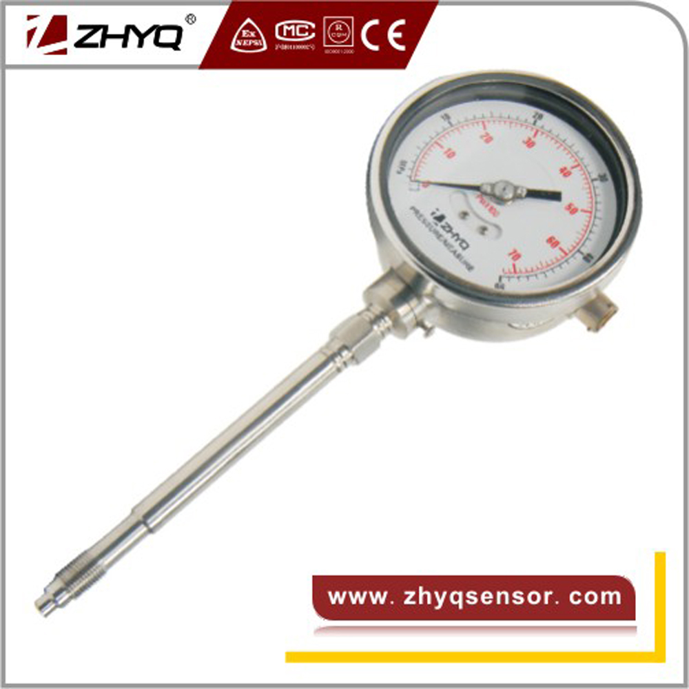 350 C rigid stem Mechanical Melt Dial Pressure Gauge