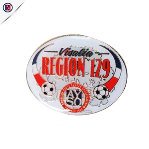 Professional Manufacturers custom printed logo suit pins football lapel pins