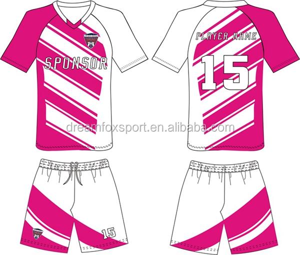 Sublimated Customized Cheap Plain Pink Soccer Jerseys Design ...