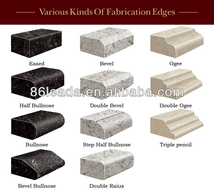 ... Edge / Eased Edge Countertop Quartz Stone,Flat Edge / Eased Edge