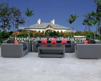 Set Giardino In Rattan.New Product Mobili Da Giardino Wicker Rattan Outdoor Sofa Set