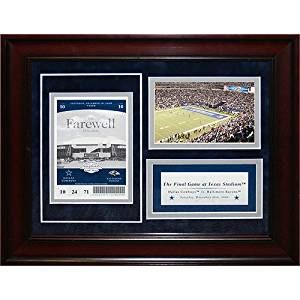 8963b867dd404 Get Quotations · Steiner Sports NFL Dallas Cowboys Dallas Cowboys 11x14  Final Game Commemorative Ticket Collage (Pkg A