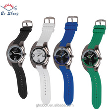 2017Bosheng: (8658) Silicone attactive Fashion watches PU colors strap alloy case watch man wrist Mechanical watch