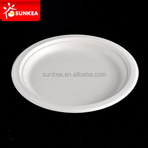 Biodegradable Disposable Bamboo Pulp Round Food Plate