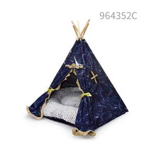 wholesale hot best selling new products 2016 cat accessories indoor nature dot dog pet bed teepee tents for medium cat dogs tent