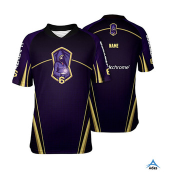 3bb057c4891 black team fashion design E-sports gaming jersey with custom design ...
