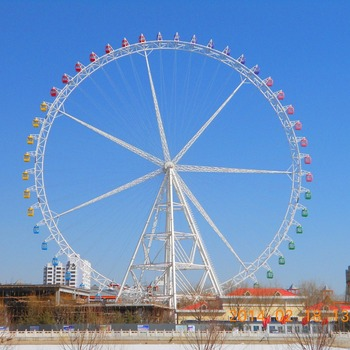 89 m 110 m 102m 120m romantic outdoor amusement park ride theme park entertainment customized truss ferris wheel