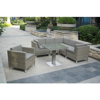Outdoor Furniture Rattan Sofa Set Dining Table Patio Lounge Garden Product On Alibaba