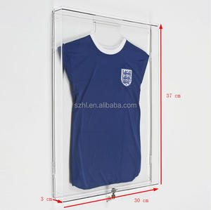 Clear Acrylic Football T Shirt Frame/ Jersey Display Box Case With Lock