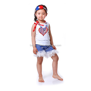 toddler girl spring boutique 2017 kids baby girls clothing 4th of july outfit sets