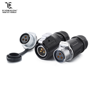 Power Connector IP65/IP68 Female Socket and 3-Pin Male Plug