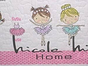 Nicole Miller 4-pc Reversible Pink BALLERINA / BALLET Quilt Set - TWIN SET (includes: twin sheet set + twin quilt)