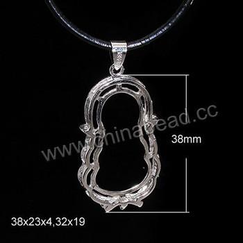 Wholesale pearl pendant settingsbuddha shape setting with bail wholesale pearl pendant settings buddha shape setting with bail aloadofball Images