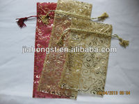2013 new organza tassel drawstring pouch bag for gifts