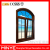 Wood Garin Finish Aluminum Windows Manual Side Opening Casement Aluminum Windows