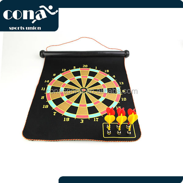 2017 hot selling Roll Up Magnetic dartboard with 6 darts