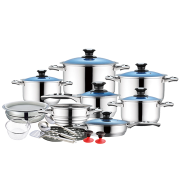 High quality german cookware sets with stainless steel cooking pots and pans