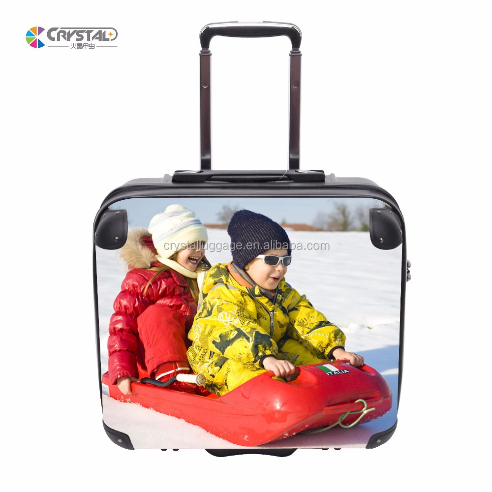 "Customized Logo Print Luggage Sets 20"" 24'' 28'' ABS/PC Trolley Hard Shell Travel Bag Suitcase"
