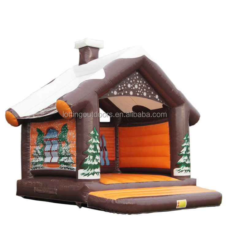 2018 Xmas inflatable christmas carousel jumping castle inflatable outdoor