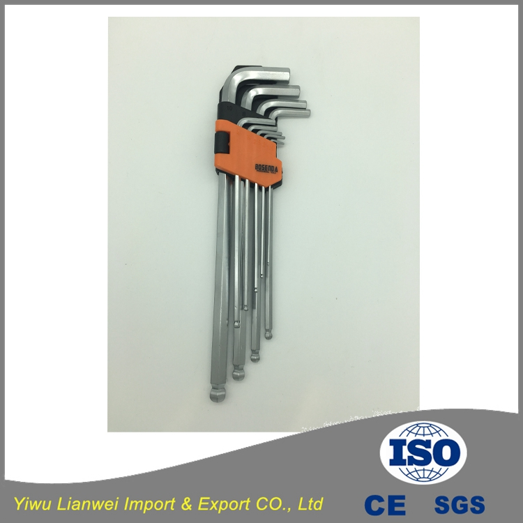 High quality hot sale silver stainless steel L-type hex allen wrench