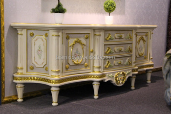 Charmant French Rococo Style Home Decorative Cabinet, European Living Room TV Stand  Cabinet