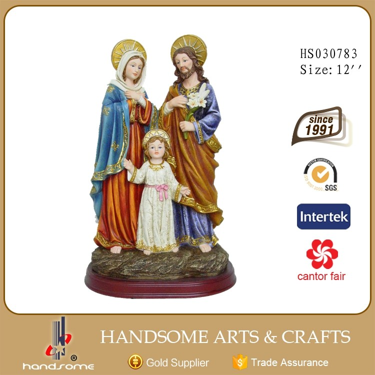 "Catholic Gift Large 12"" Resin sculpture Resin Holy Family Religious Statue Figure"