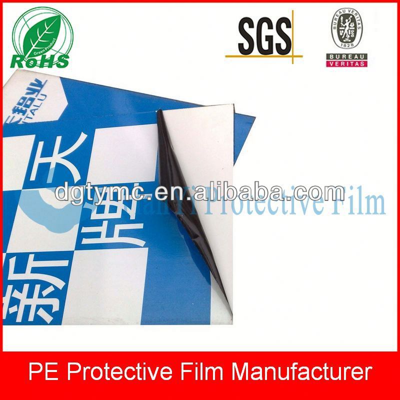 colored pe protective adhesive tapes for stainless steel and ACP profiles