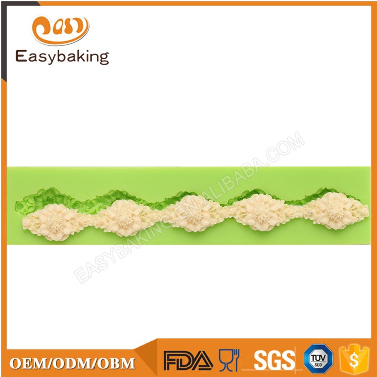 ES-4307 Flower Fondant Mould Silicone Molds for Cake Decorating