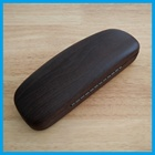 Wholesale brown colored wood leather reading glass case