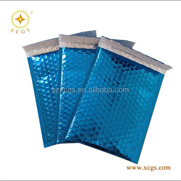 Aluminized foil bubble envelope shipping postage mailing bag