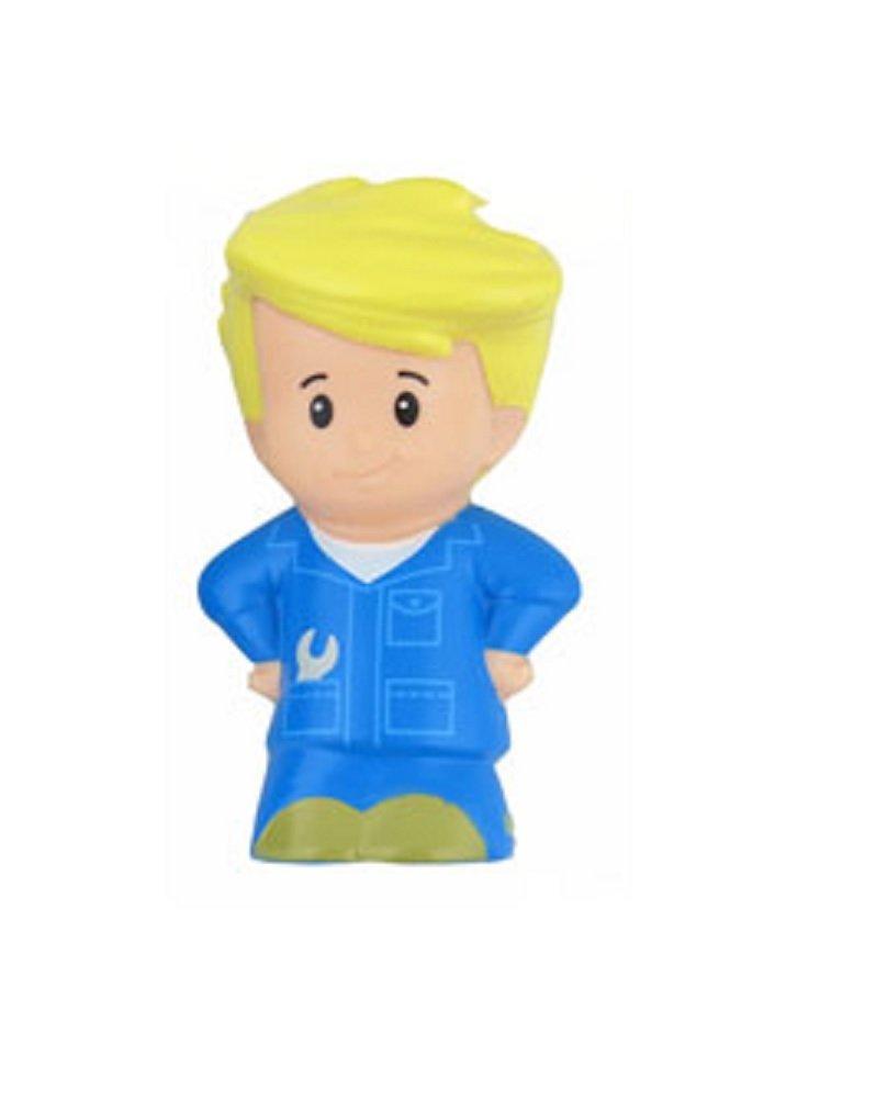 Fisher Price Little People Blonde Eddie Auto Mechanic Garage Car Driver Bus Boy