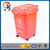 50L indoor square street public garden recycle plastic waste bin container With Cover