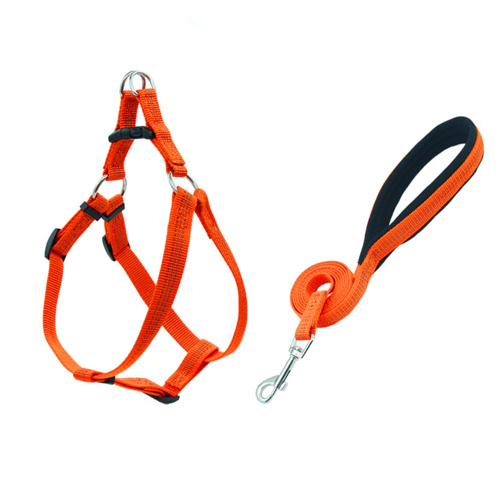 Adjustable Reflektif Nilon Anjing Harness Custom Logo Anjing Harness dan Tali