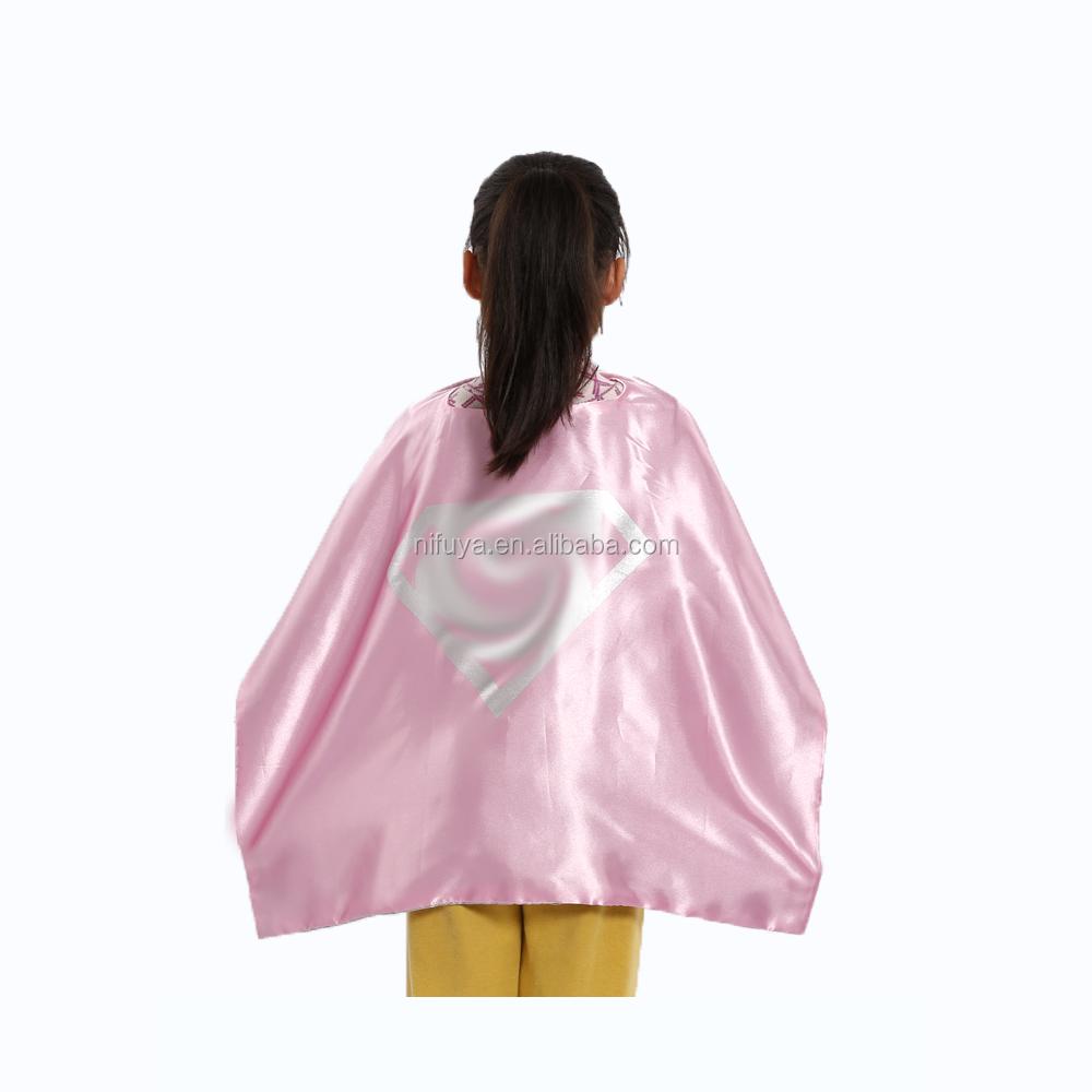 2018 新設計された二重層卸売スーパーヒーロー岬とマスクスーパーヒーロー子供ケープ
