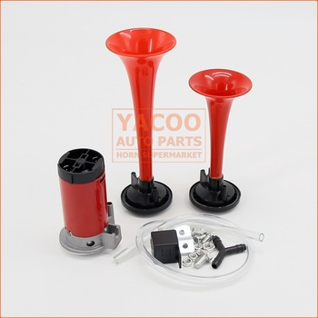Popular Style Red Small Mini Plastic Car Air Horn 12v for Motorcycle Bus Ship with Klaxon Horn Relay
