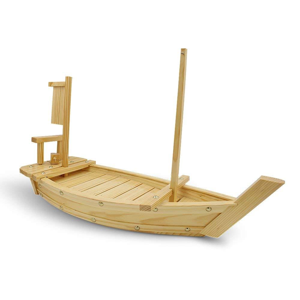 XMYZ White Pine Sushi Boat Sashimi Boat Wooden Sushi Tray Serving Boat Plate Large Restaurant Hotel Supplies Dish
