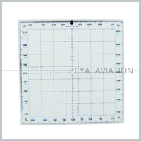 Plastic Acrylic Pilot Square Protractor Navigational Plotter for Student Flight Training