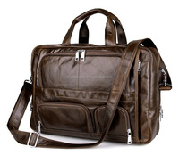 Amazon hotsale men leather briefcase/handbag with shoulder strap, custom logo is welcome with low MOQ factory price