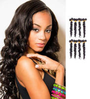 Top quality 100% unprocessed loose body weave virgin brazilian human hair weft/ human hair weave