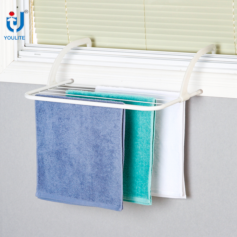Window balcony wall mounted folding clothes drying rack