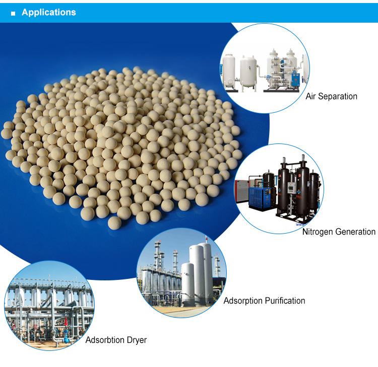 Produits Chimiques Du pétrole et du Gaz D'adsorption D'humidité 4A Tamis Moléculaire