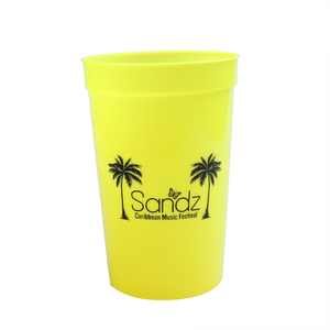 Bachelorette party favors supplies custom logo cups yellow plastic disposable cups